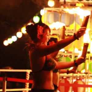 Te Marama Tahiti 金山のタヒチアンダンススタジオ-香恋の里しもやま夏まつり テマラマタヒチファイヤーショー